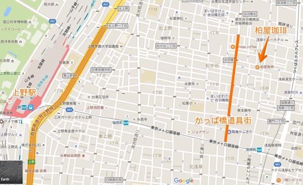 かっぱ橋道具街の地図