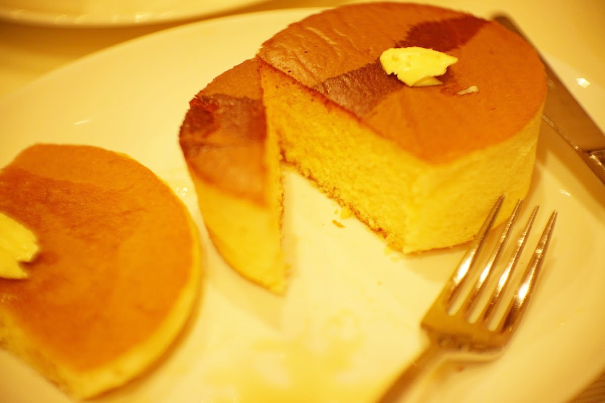 柏屋珈琲のパンケーキ