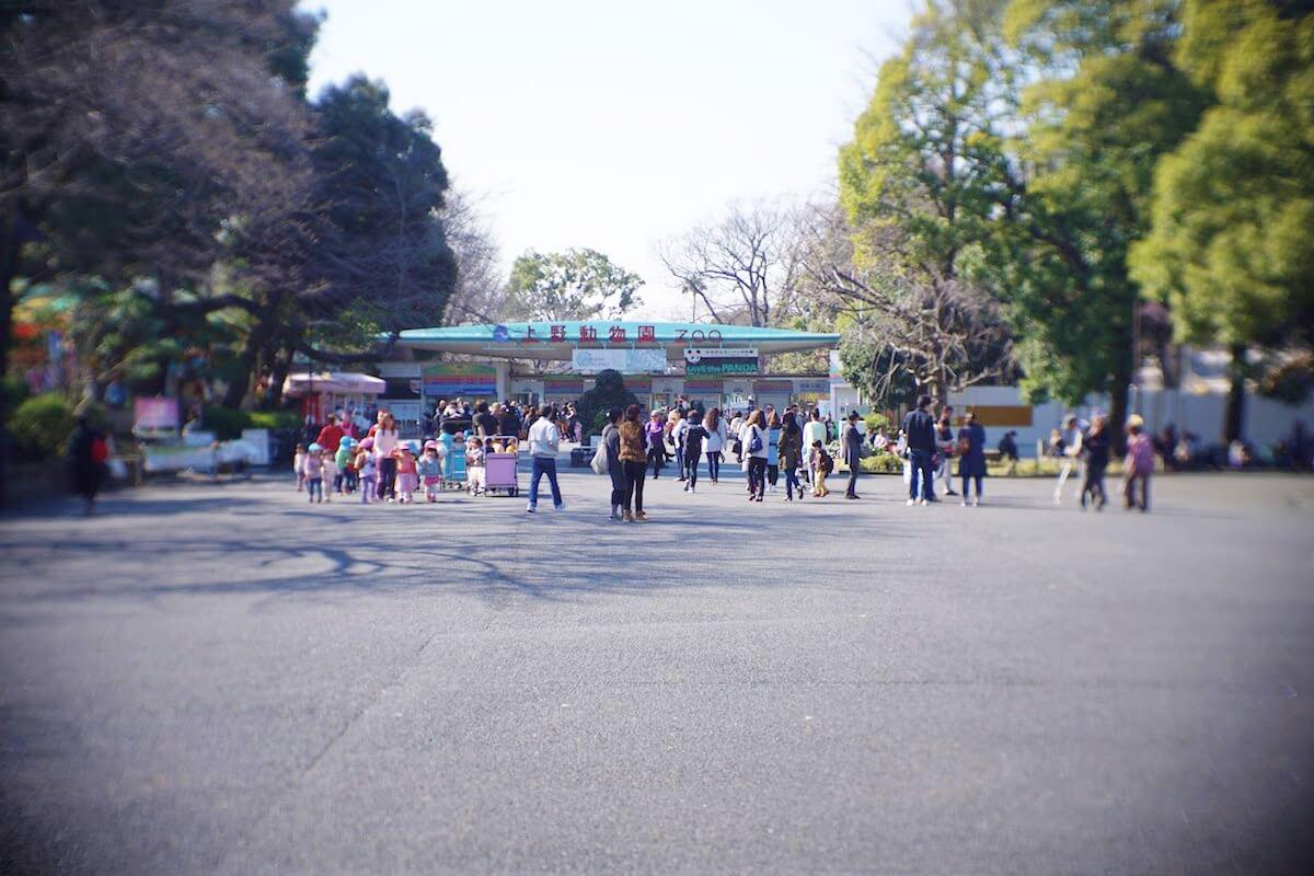 上野動物園の入り口