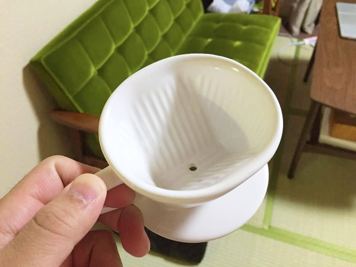 陶器製の1つ穴ドリッパー