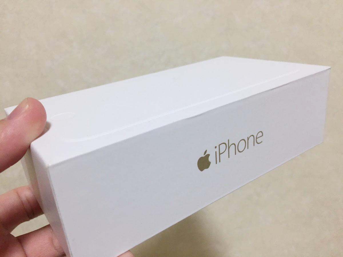 iphone6ゴールドの箱