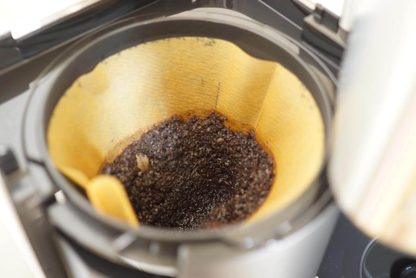無印のコーヒーメーカーで残った土手