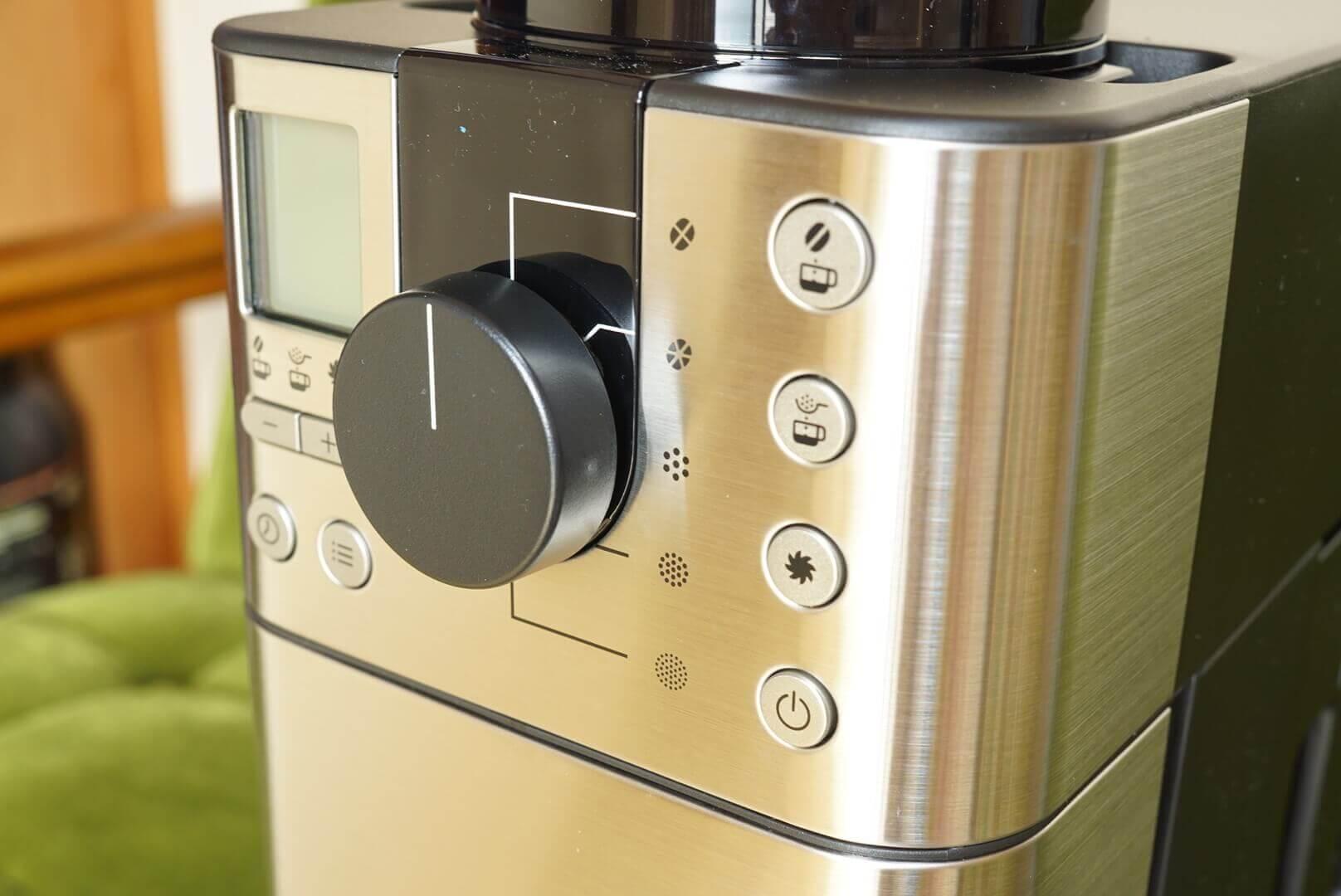 無印のコーヒーメーカーのボタン各種