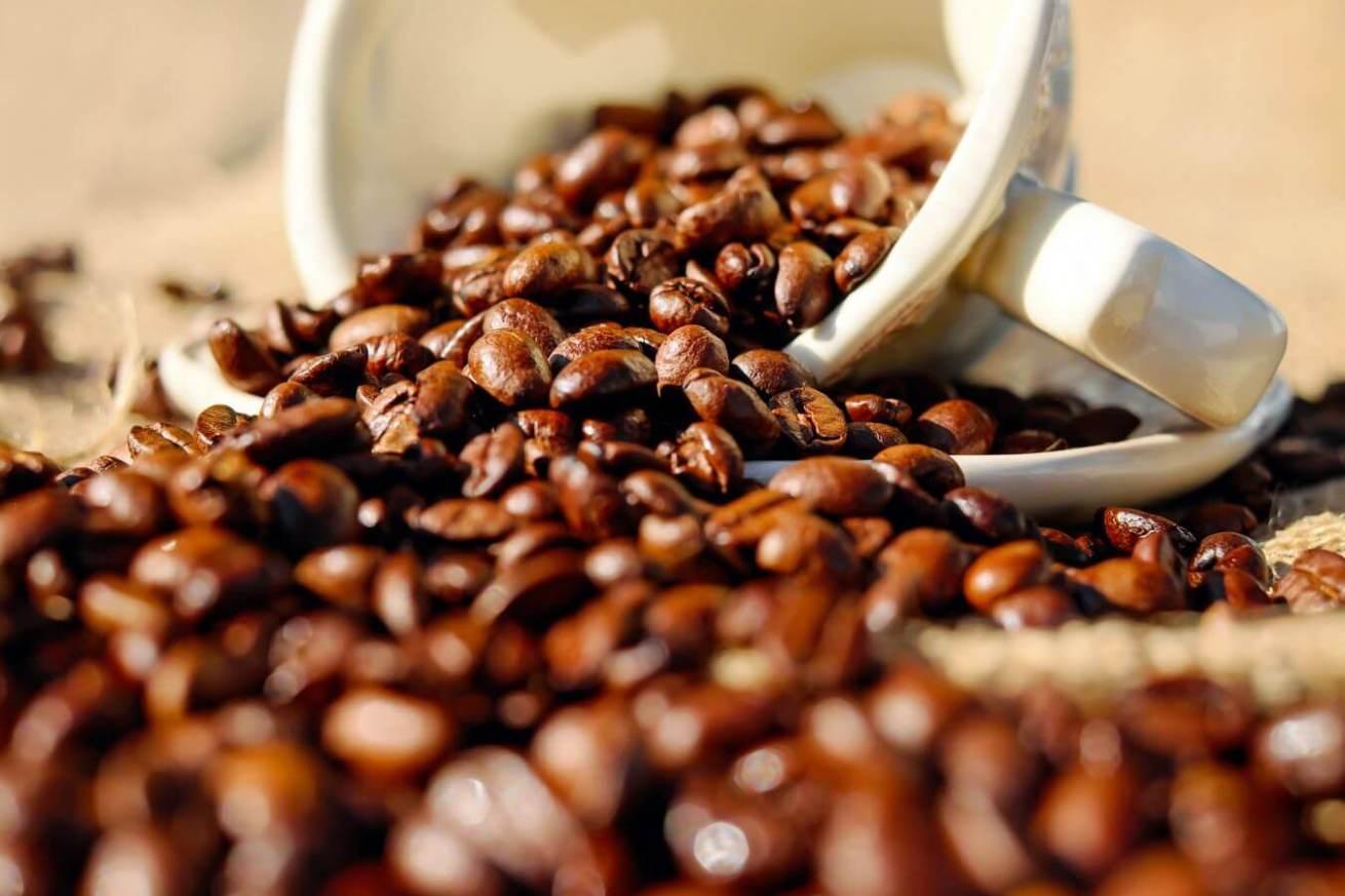 茶色いコーヒー豆