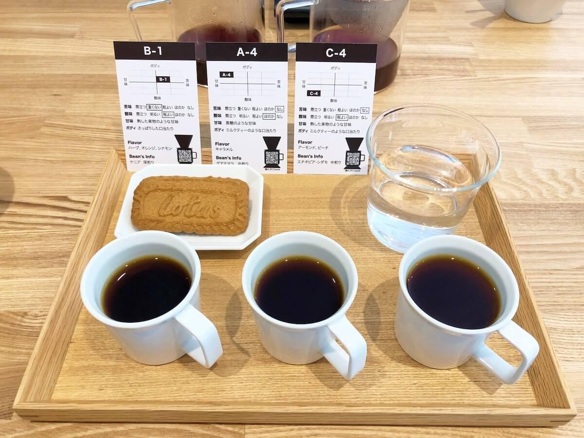 コーヒーのテイスティングセット