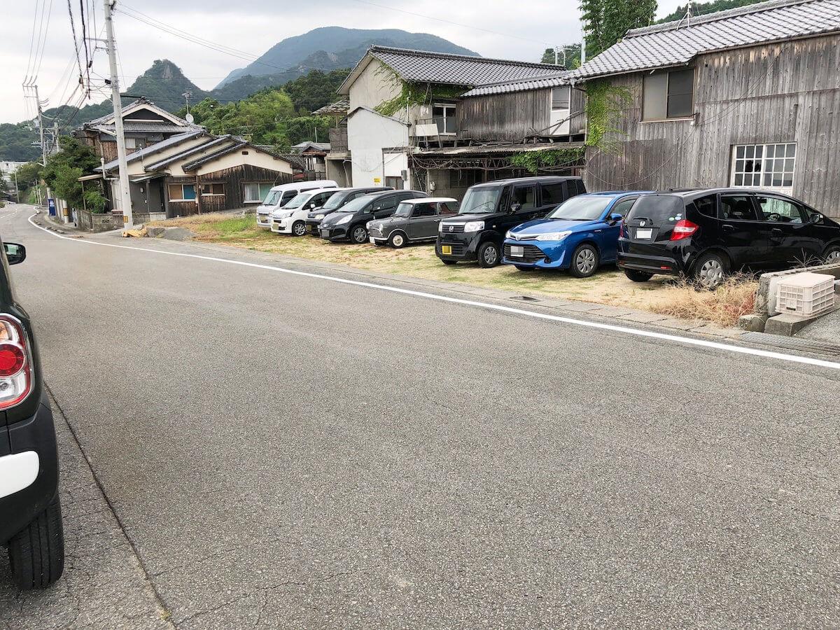 双海の駐車場