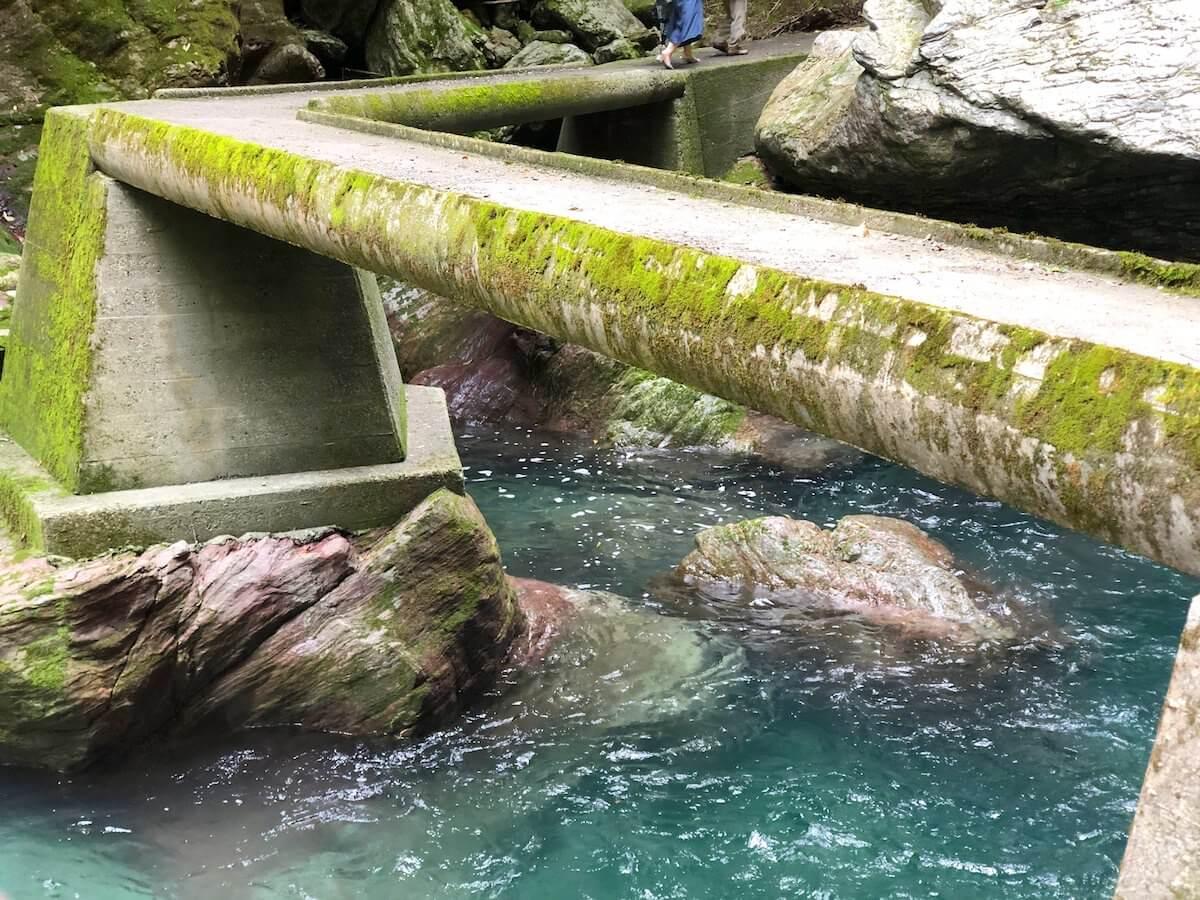 中津渓谷の橋