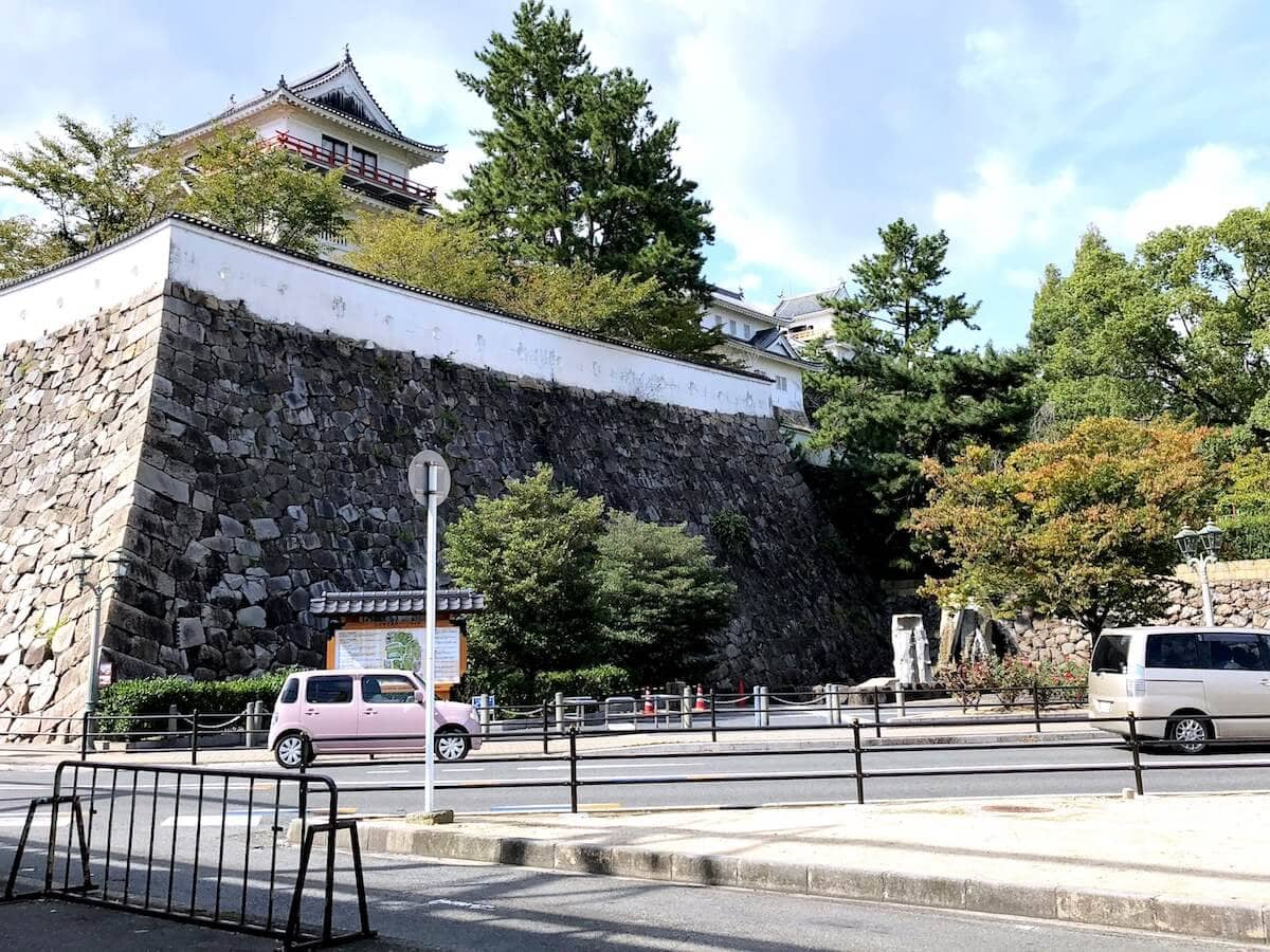 福山駅で見られる福山城