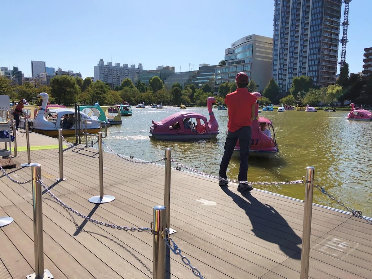上野公園のボート乗り場