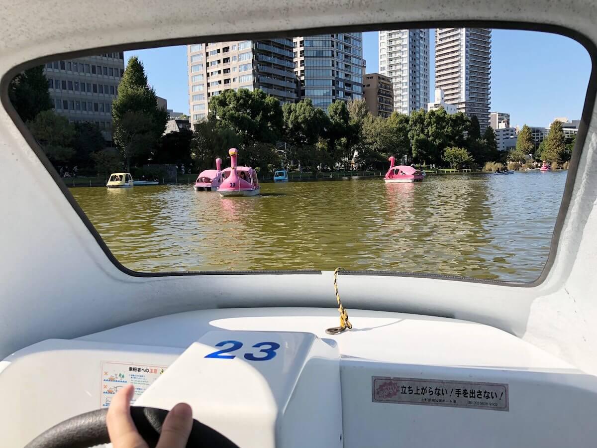 ボートの中からの景色