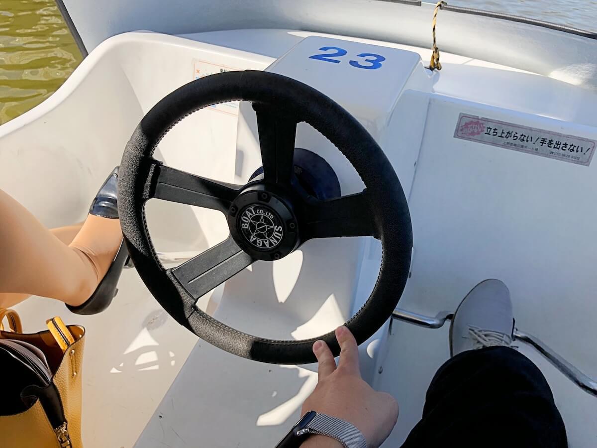 ボートのハンドル