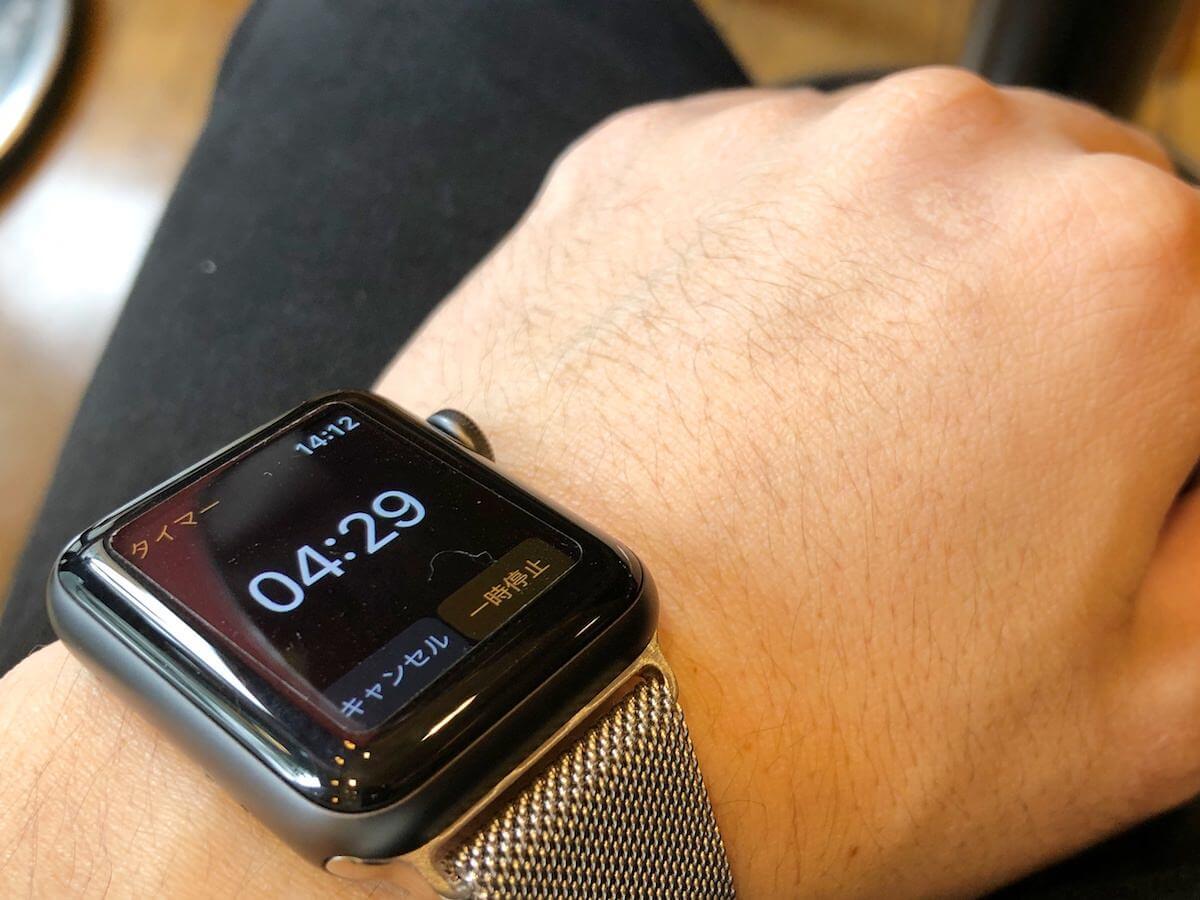 apple watchのタイマー