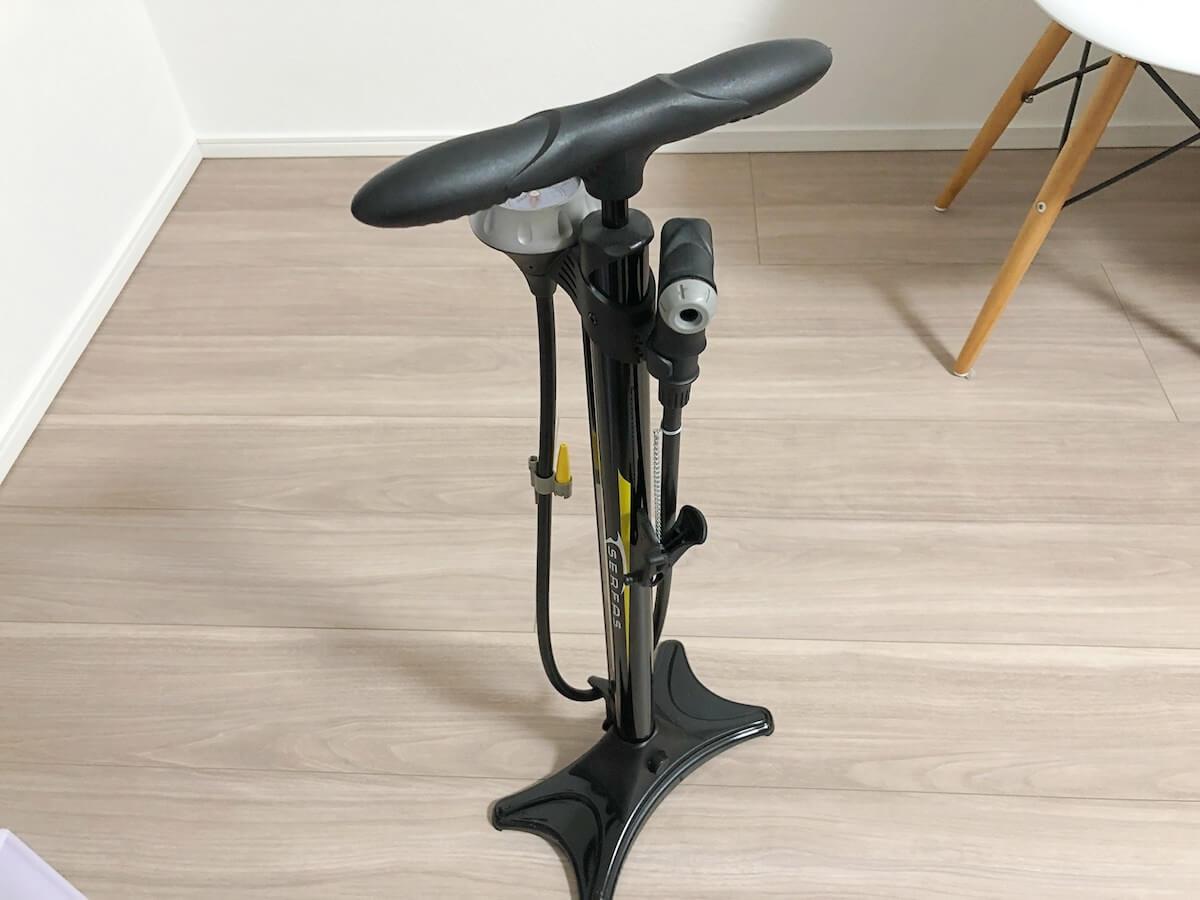クロスバイクのおすすめ空気入れの写真