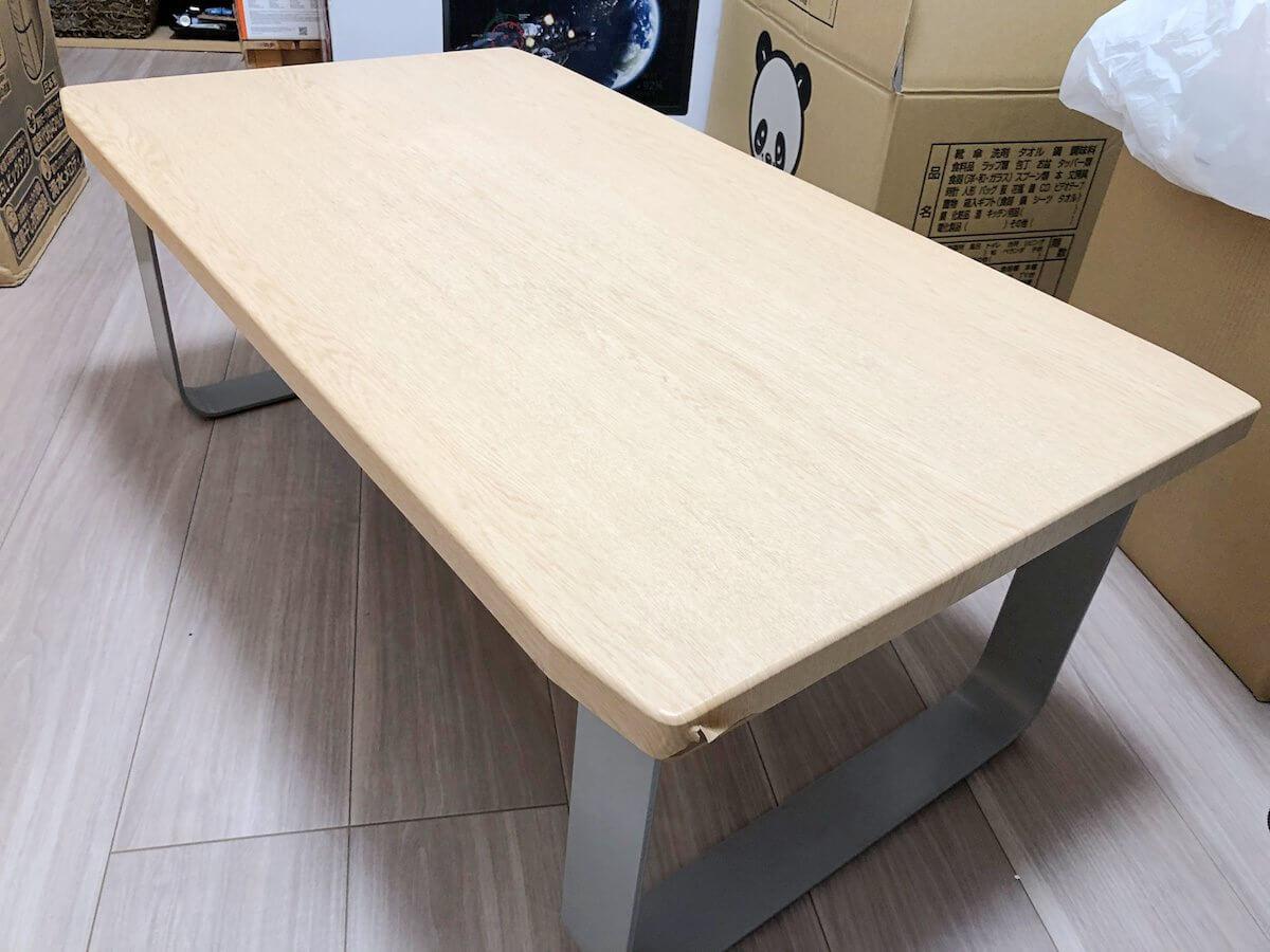 つくりがしっかりしたローテーブル