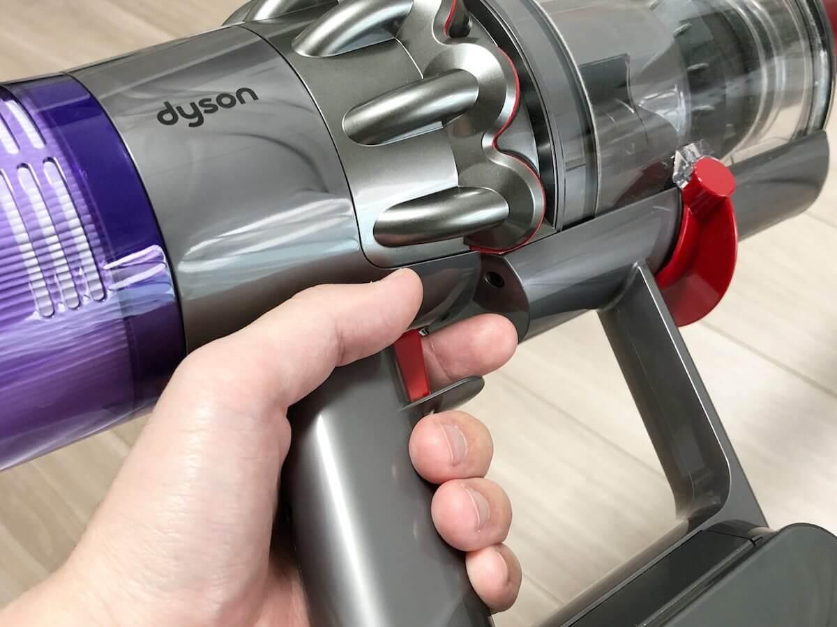 ダイソンはトリガー式の掃除機