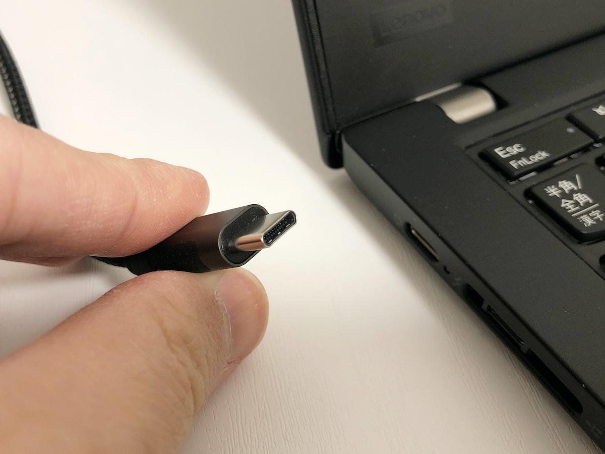 USB-Cのコネクタ