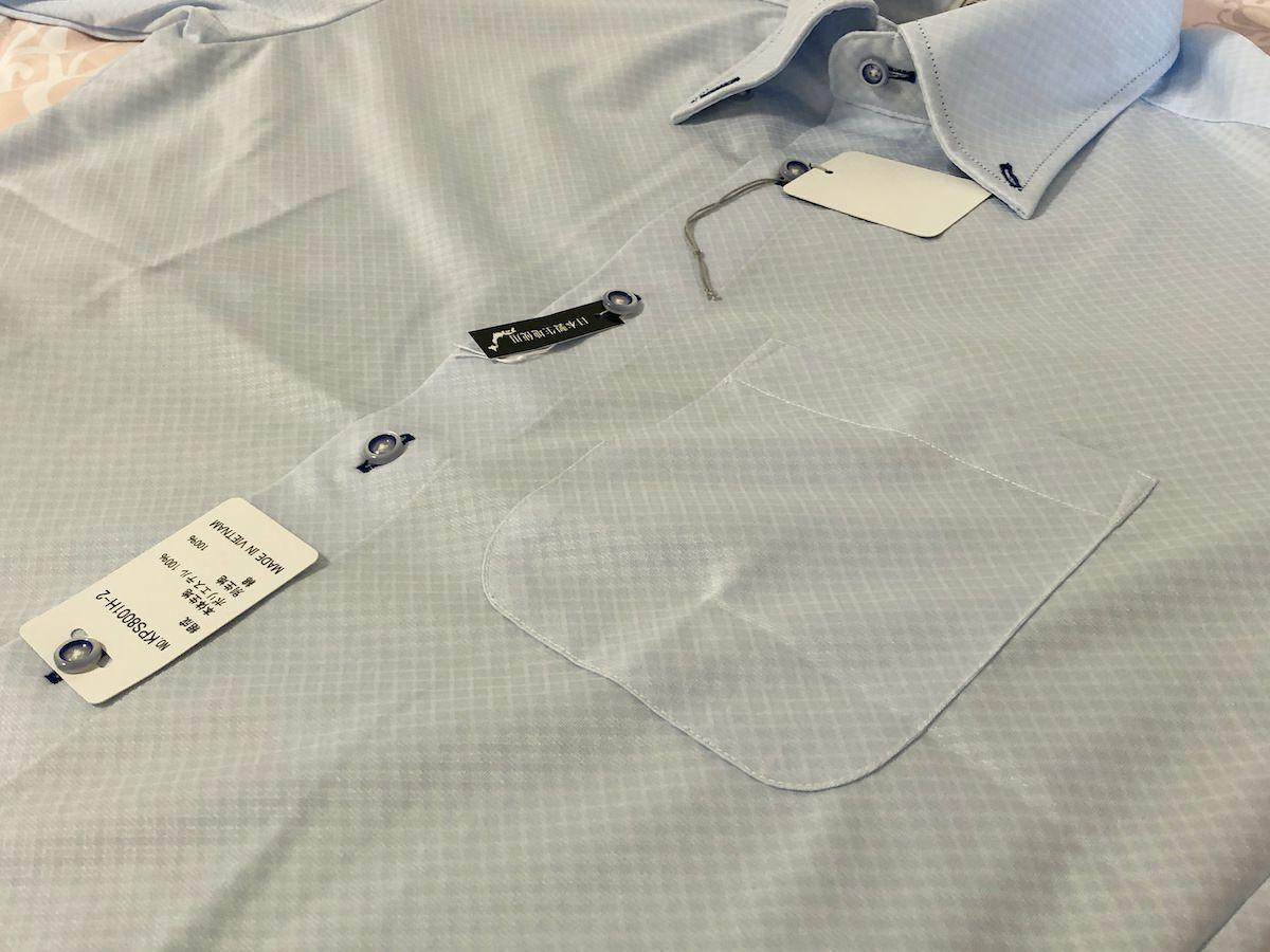 ノーアイロンのワイシャツ