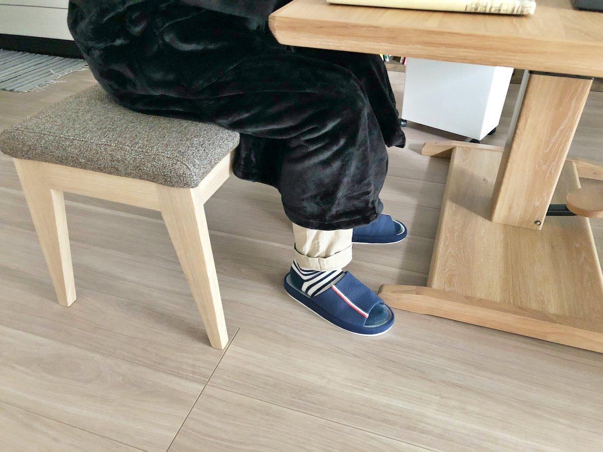 mofua 着る毛布の足元